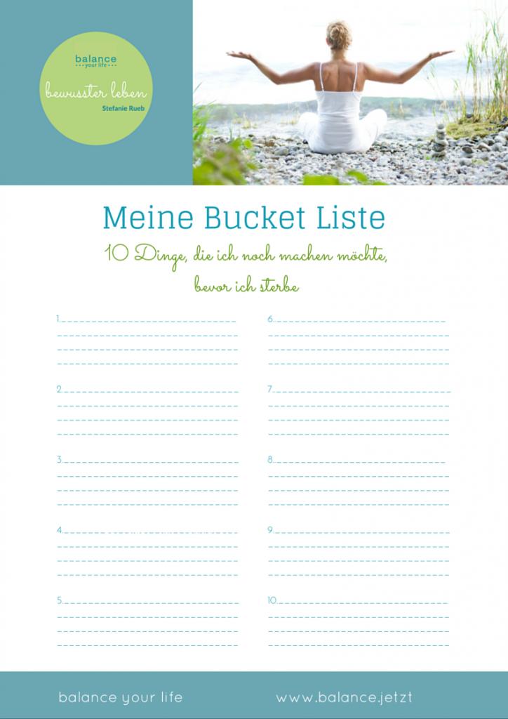 Meine Bucket Liste_balance Foto